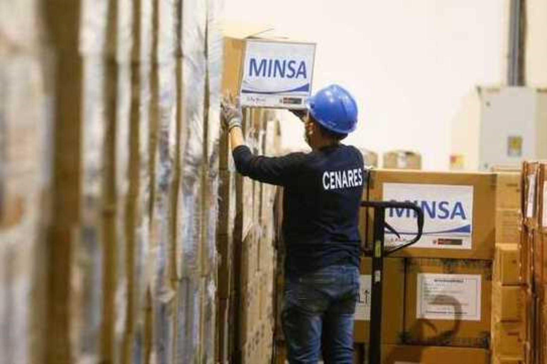 Minsa envía cerca de 109 toneladas de suministros médicos a Lima y regiones. Foto: ANDINA/Difusión.