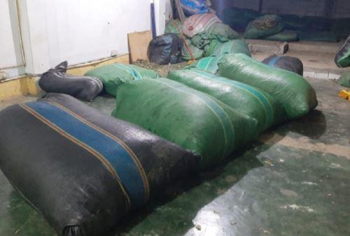 Droga incautada por las Fuerzas Armadas en el Vraem estaba en bolsas de polietileno. Foto: Comando Conjunto de las Fuerzas Armadas