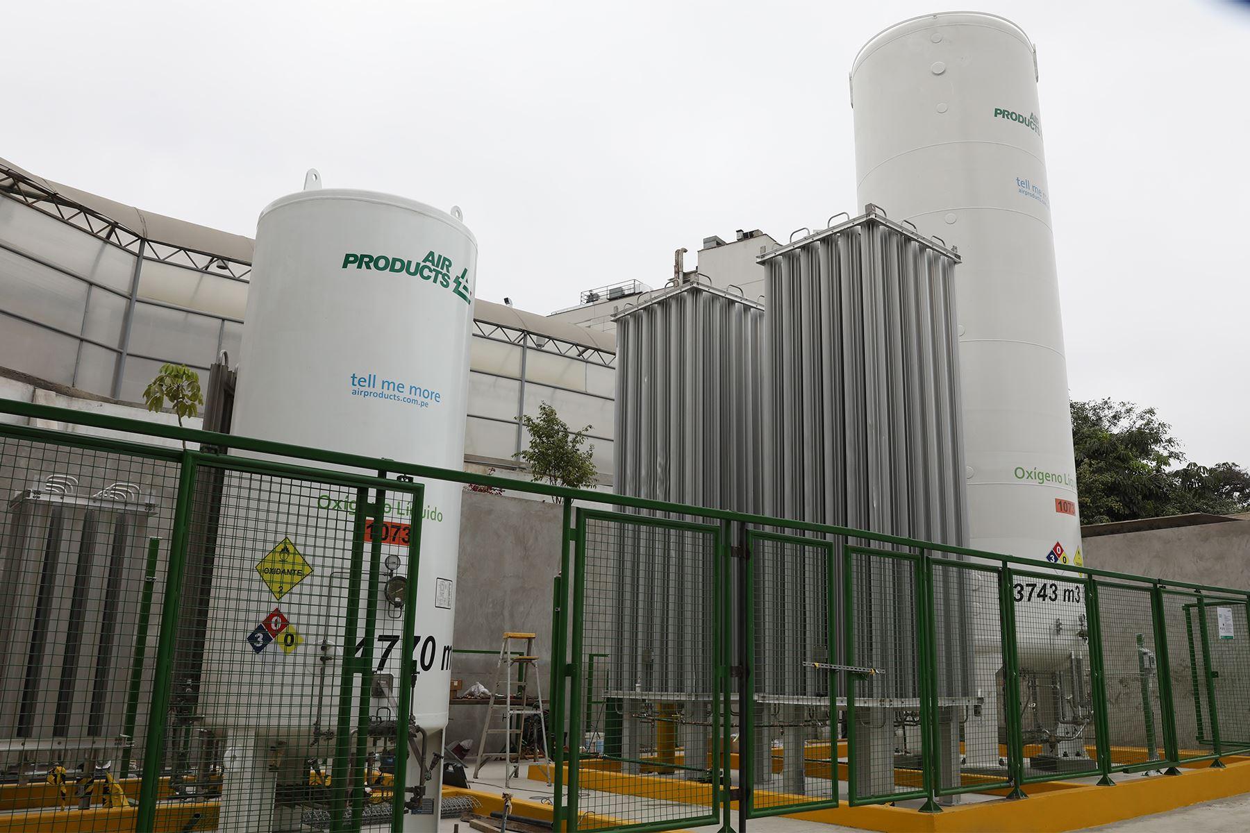 Tanque de oxígeno beneficiará a pacientes en estado crítico Covid y No Covid del Centro de Emergencias Lima (CELIM). Foto: Cortesía