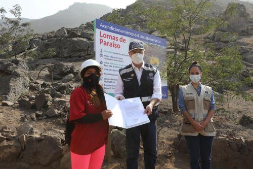 MML acondiciona las Lomas de Paraíso para promover el turismo