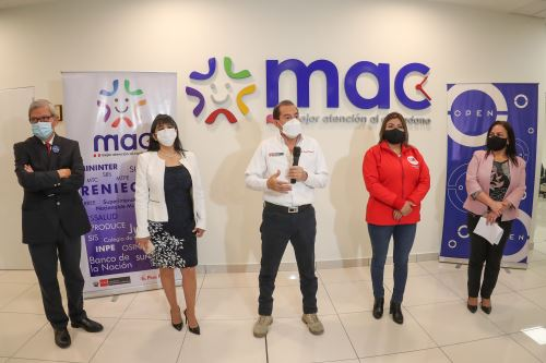 Presidente del Consejo de Ministros Walter Martos inauguró módulo de atención al ciudadano ( MAC )