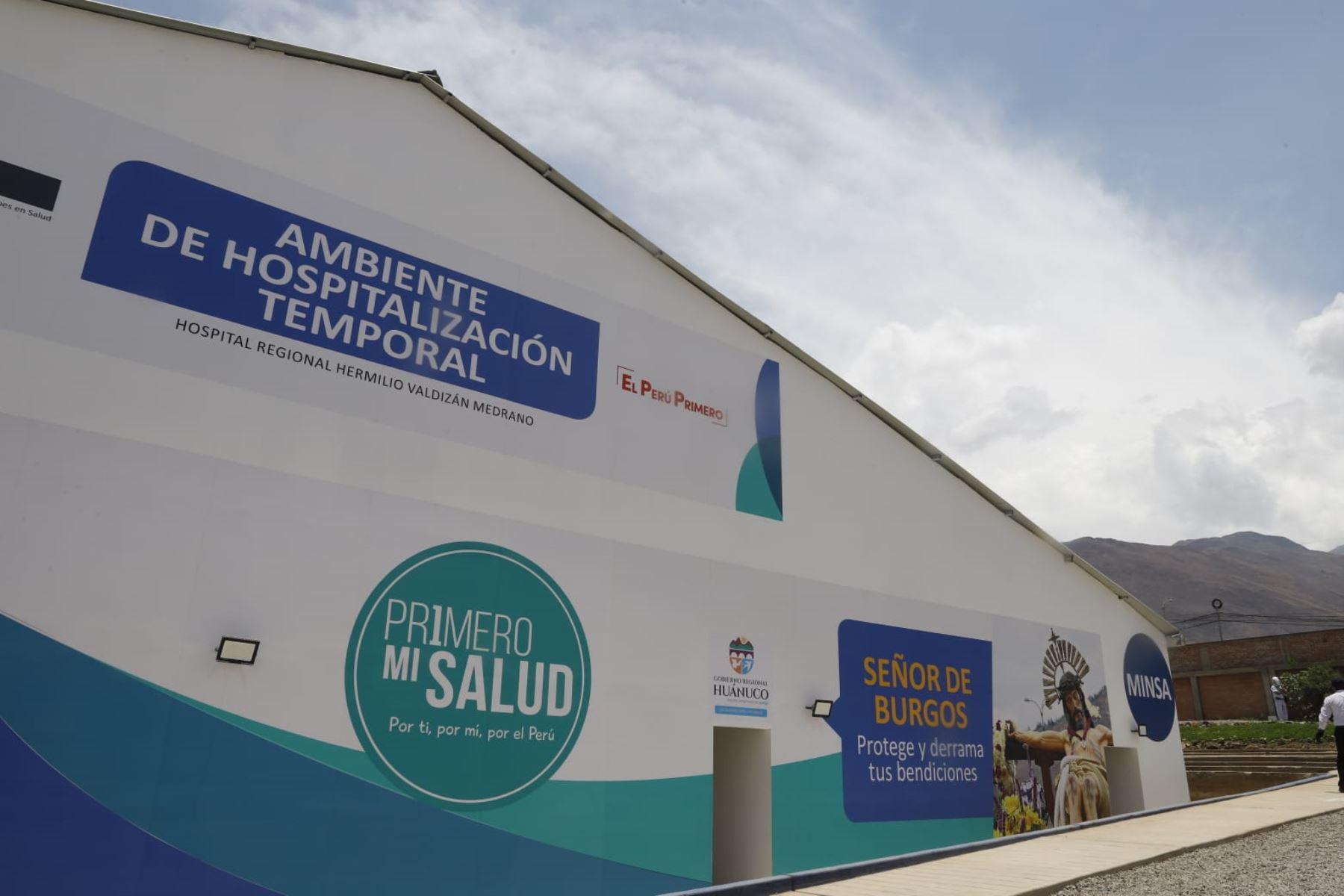 Centro de Atención y Aislamiento Temporal Huánuco, instalación equipada para la atención de pacientes COVID-19. Foto: ANDINA/Prensa Presidencia
