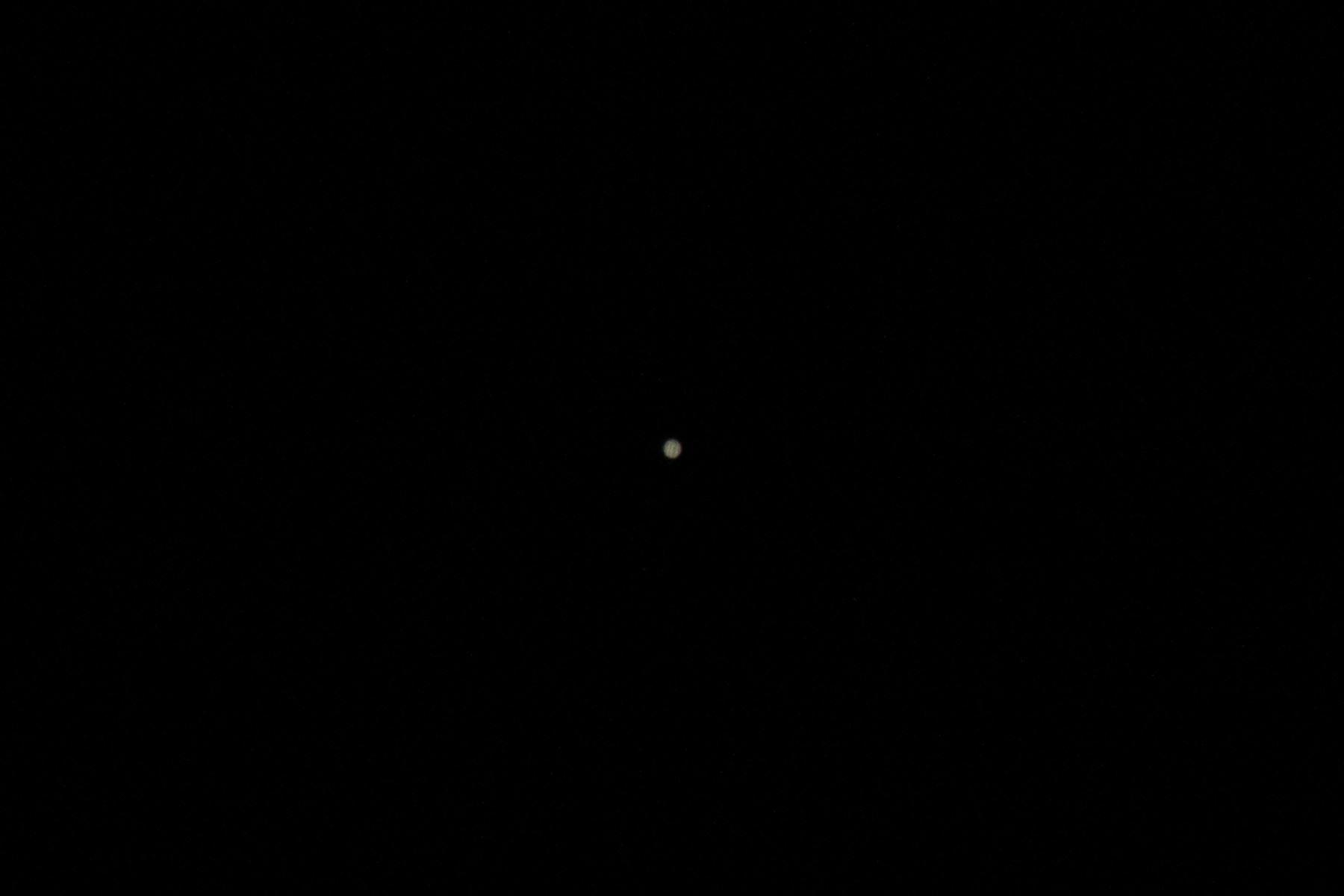 El planeta Júpiter, el más grande del sistema solar, se aprecia desde el cielo limeño. Foto: ANDINA/Carlos Lezama