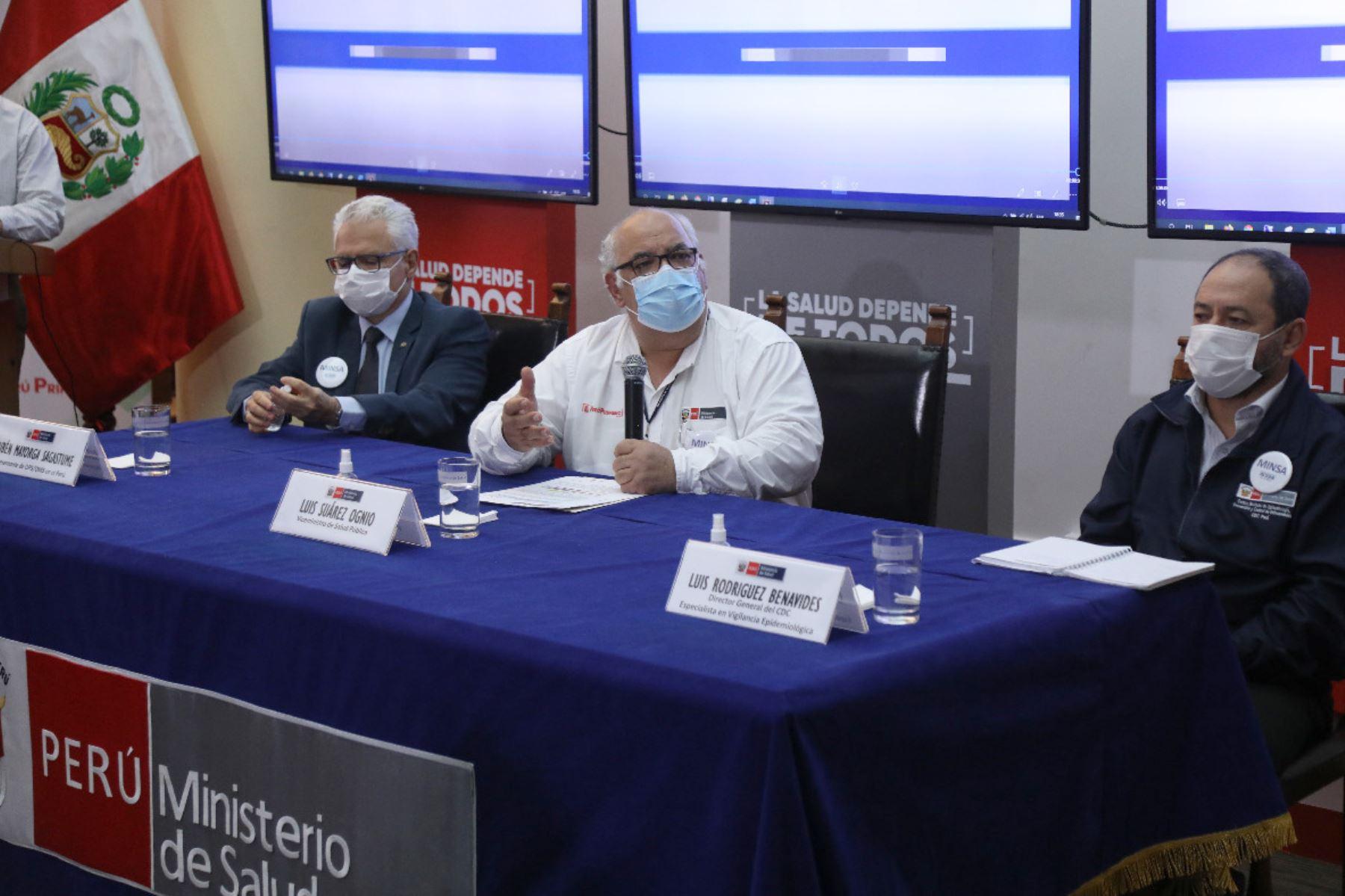 El viceministro de Salud Pública del Ministerio de Salud, Luis Suárez, ofreció conferencia de prensa para dar detalles sobre caso confirmado de difteria.