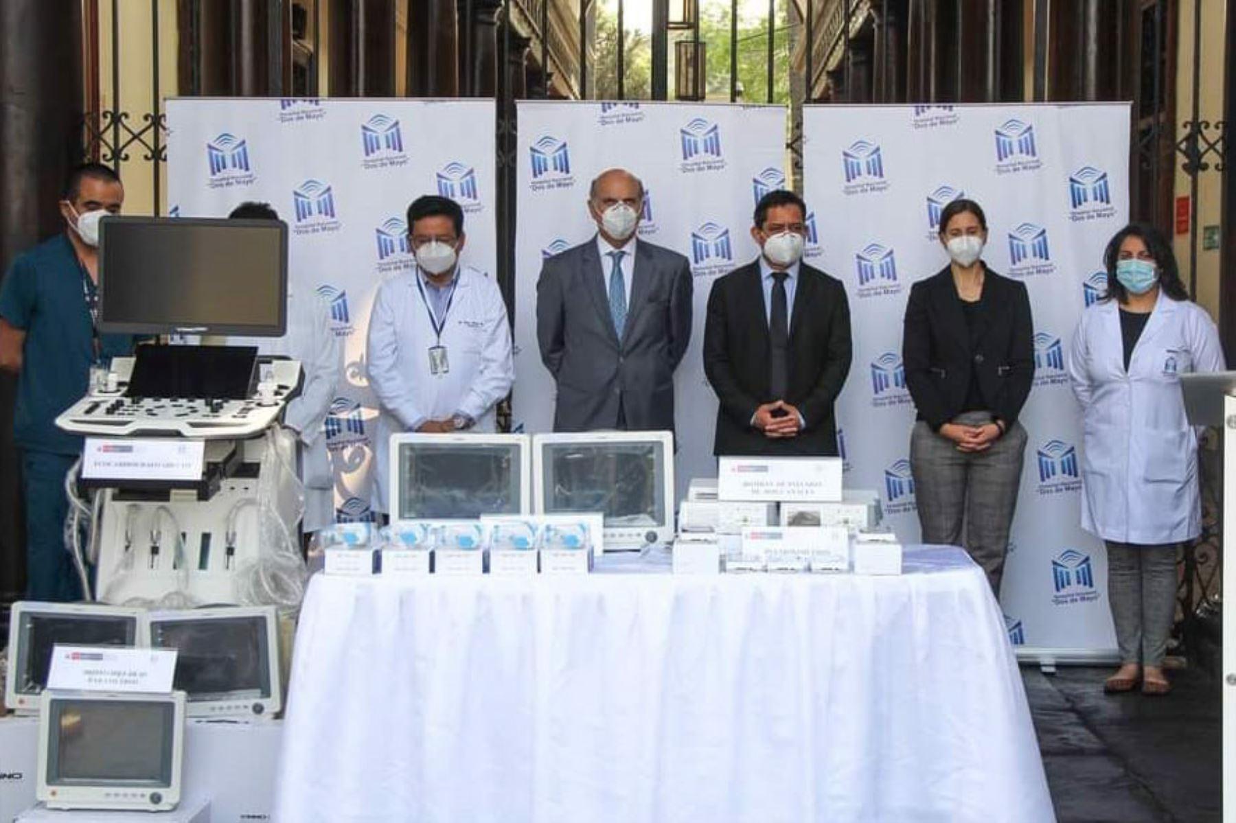 Hospital Dos de Mayo recibe donación de equipos médicos valorizados en 1 millón de soles | Noticias