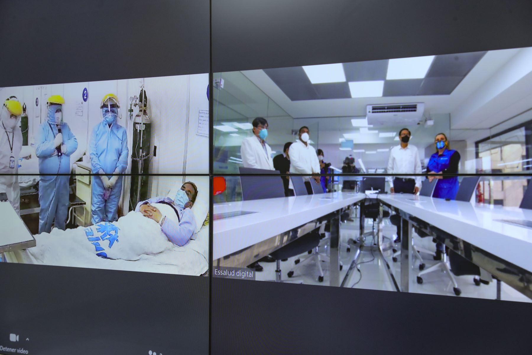 Centro Nacional de Telemedicina, moderna infraestructura tecnológica que llevará atención médica a todo el país. Foto: ANDINA/Prensa Presidencia