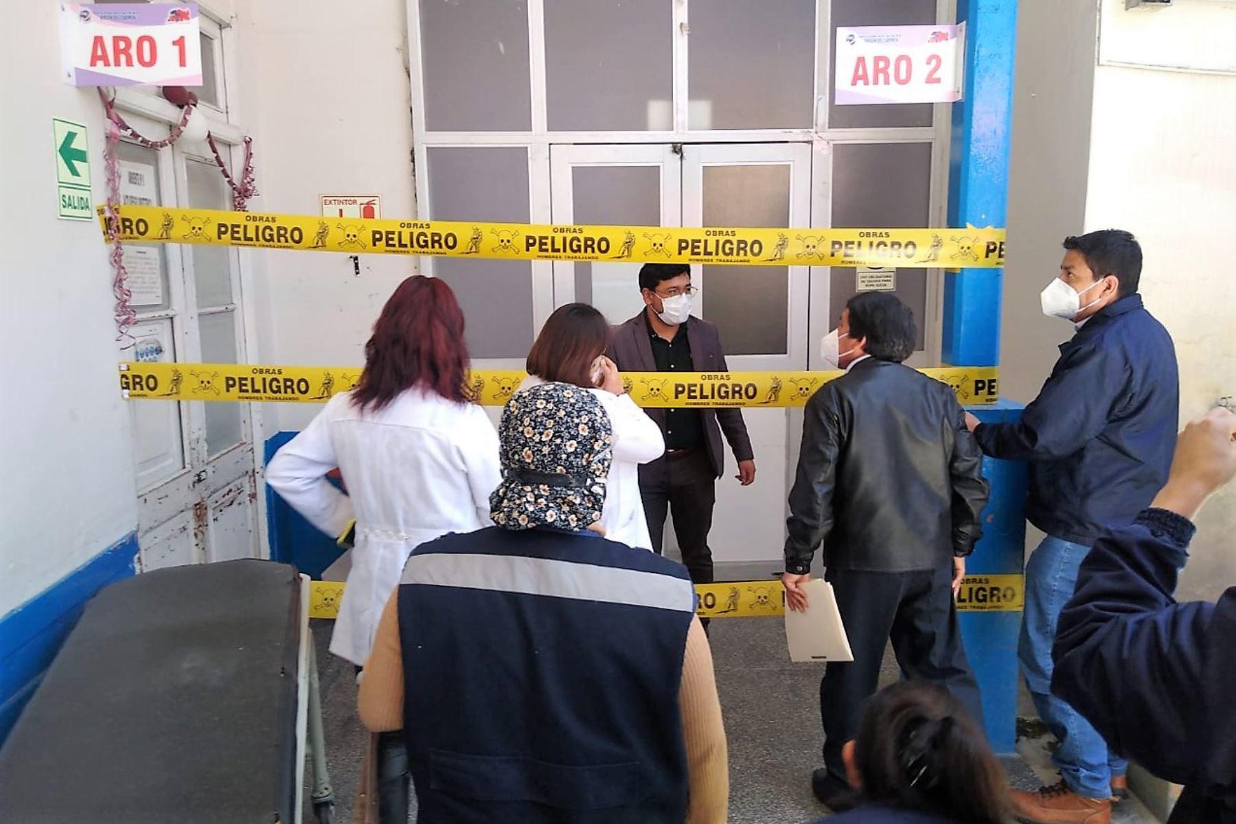 Representantes del sector Salud comprobaron deficiencias en la infraestructura del hospital El Carmen de Huancayo. Foto: ANDINA/Difusión