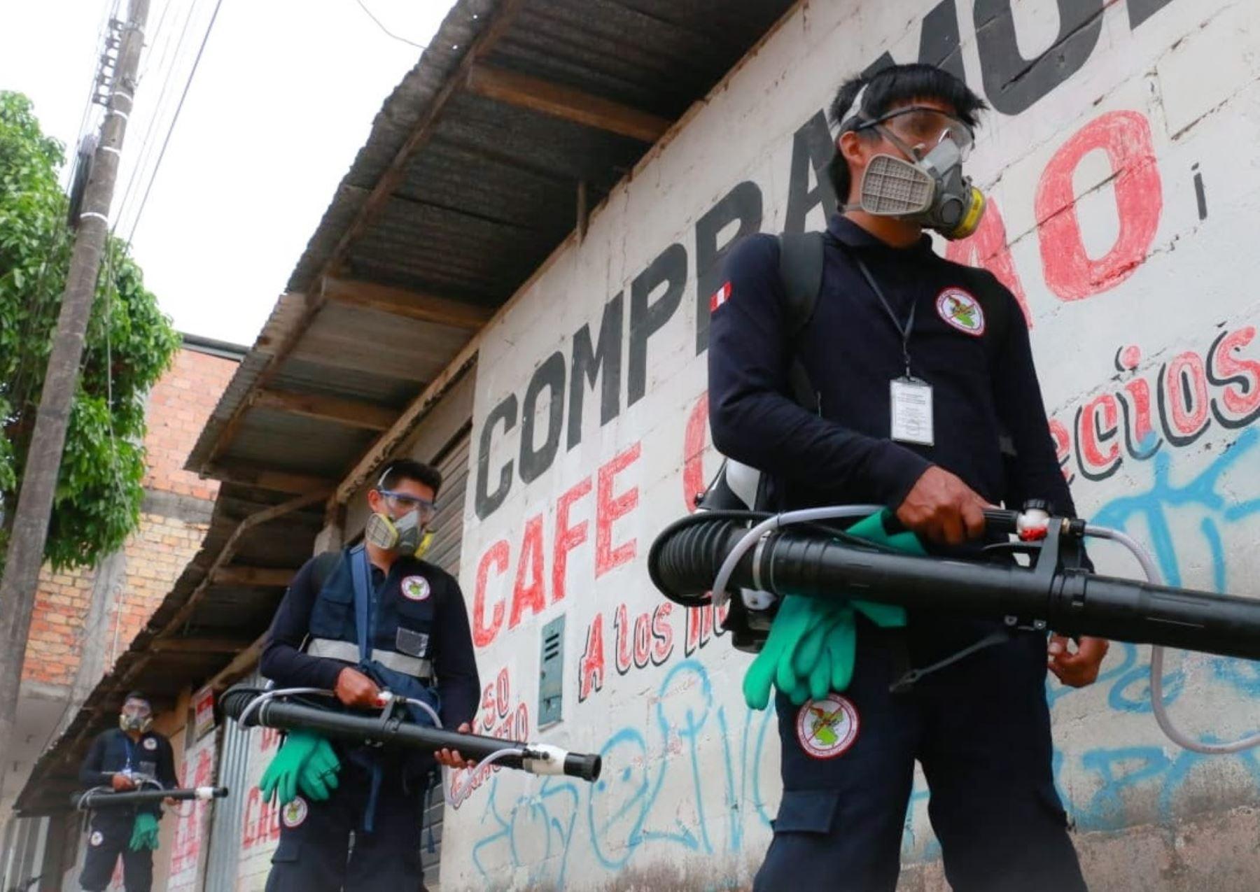 Un equipo de especialistas del Ministerio de Salud se encuentra en San Martín para sumarse a la lucha contra el dengue en esa región. ANDINA/Difusión