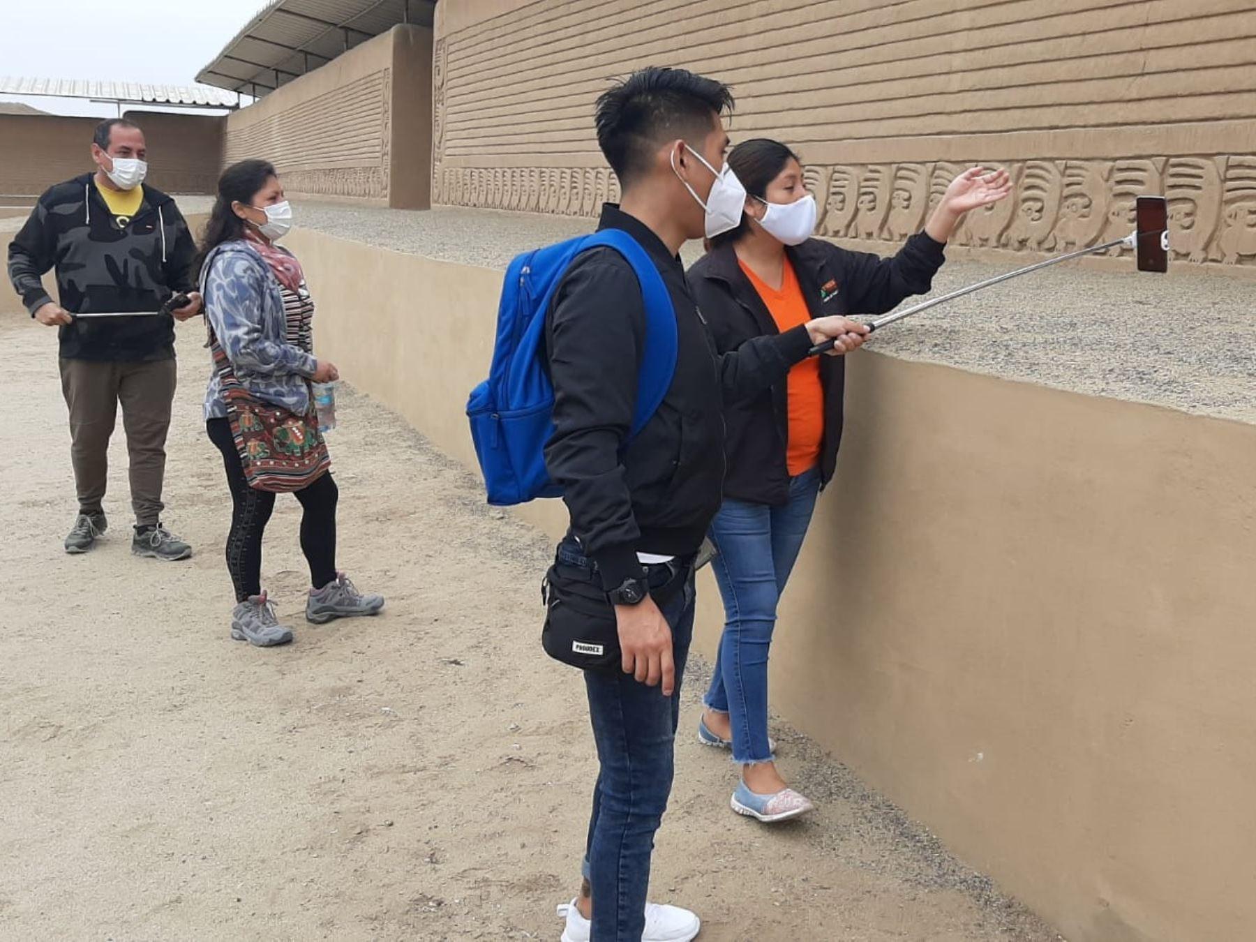 El complejo arqueológico Chan Chan, en la provincia de Trujillo, reanudará su atención al público con aforo limitado al 50% desde el 1 de marzo. ANDINA/Difusión