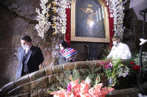 Ministra de Justicia realiza visita al templo del Señor de Muruhuay
