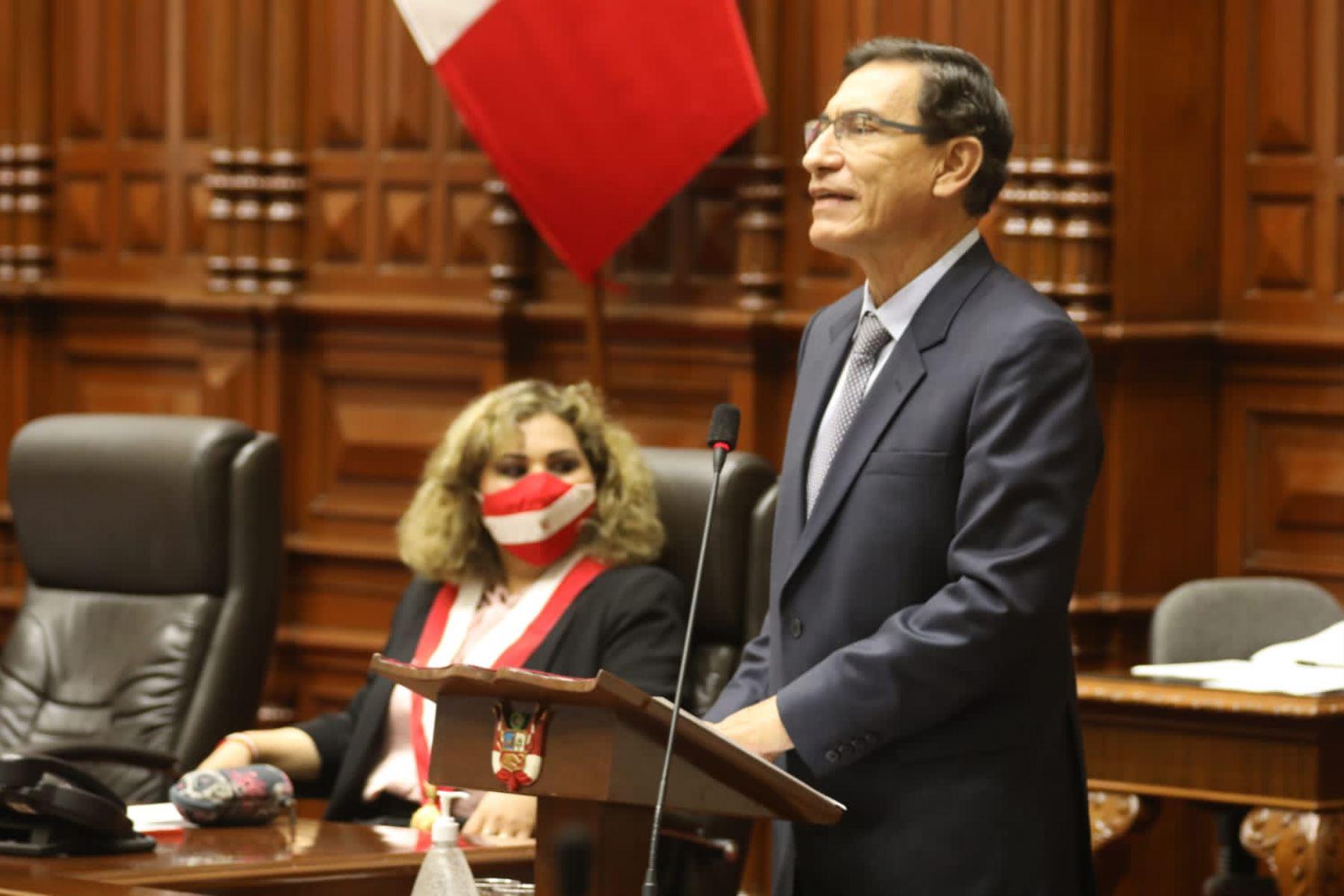 Peruvian President Martin Vizcarra. Photo: ANDINA/Presidency of the Republic