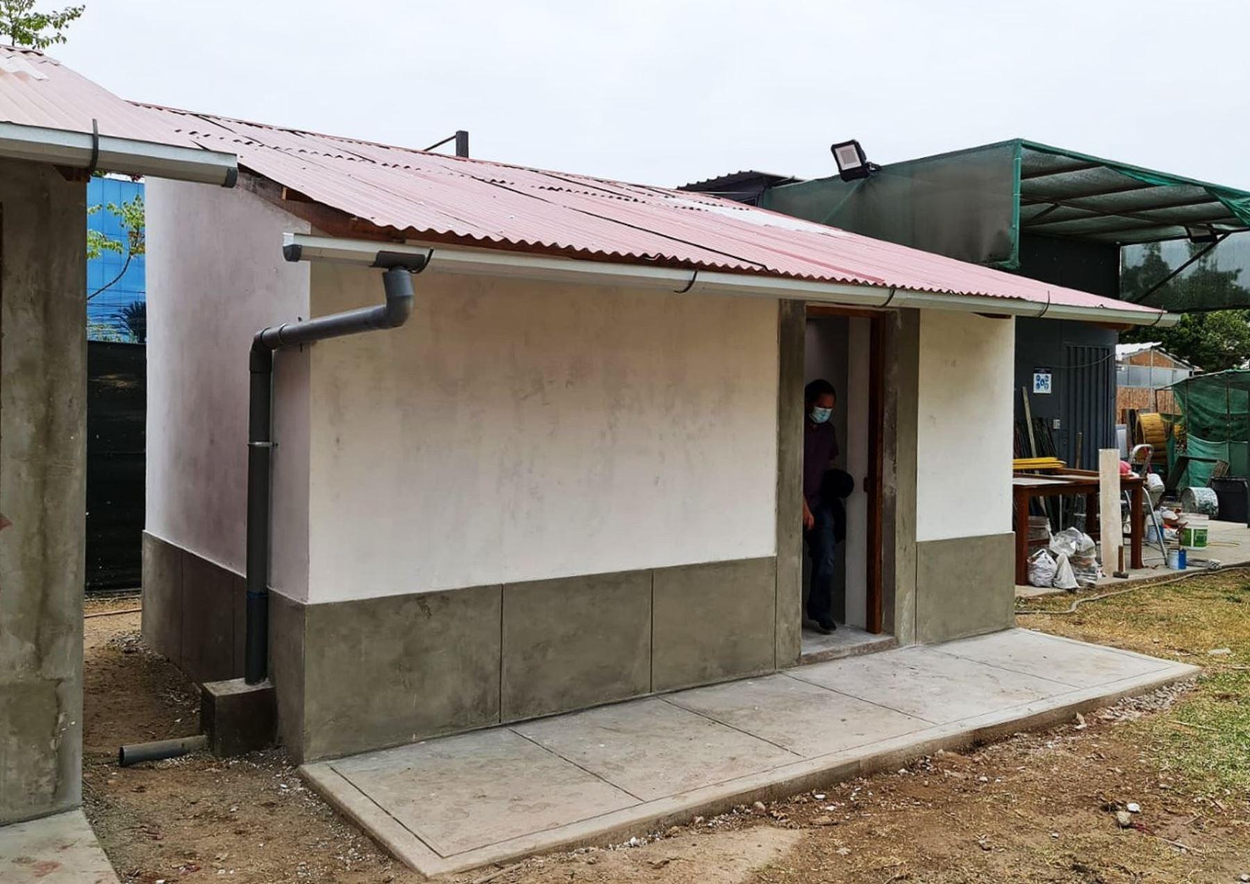 Técnicos especialistas de Sencico han creado dos prototipos de viviendas bioclimáticas Sumaq Wasi que optimiza la temperatura interna ante las bajas temperaturas que se registran en las zonas altoandinas. ANDINA/Difusión