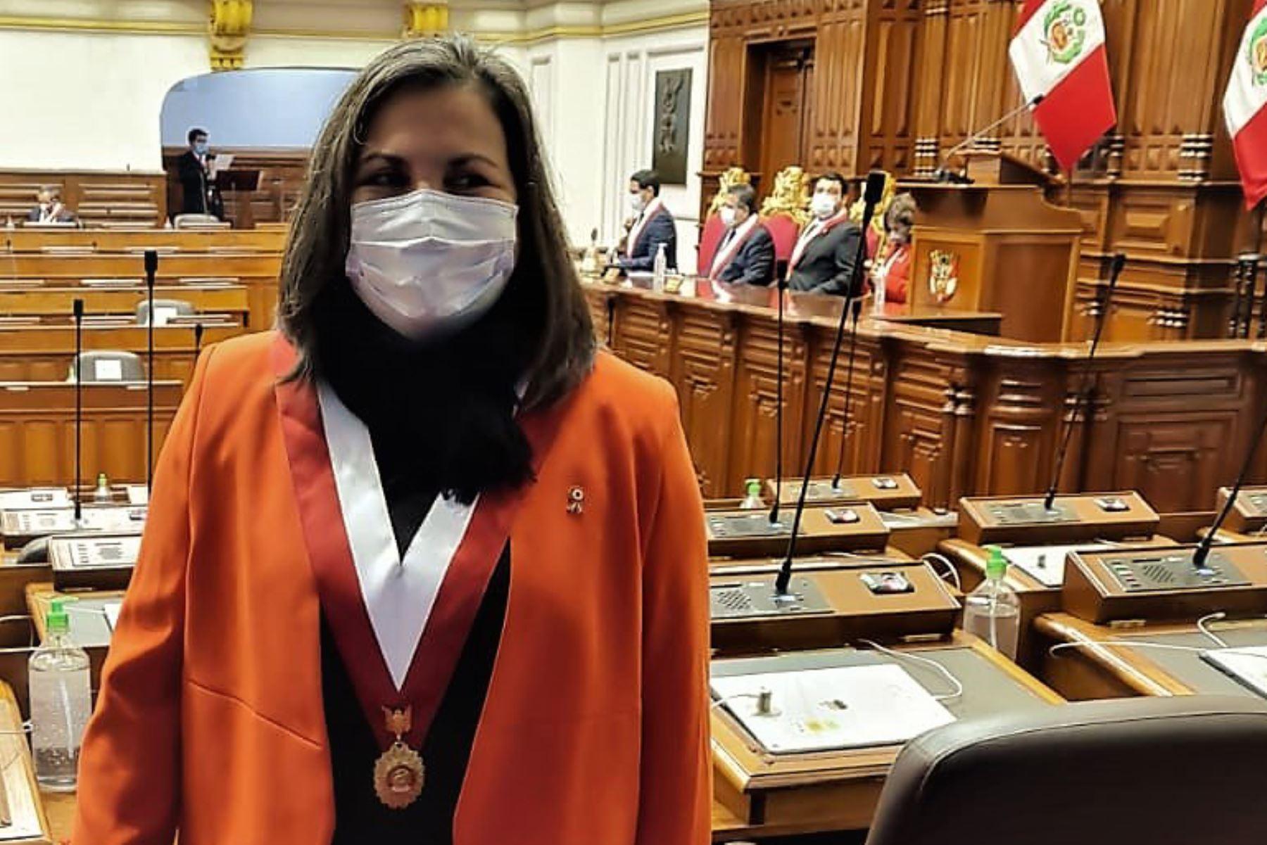 Congresista Rocío Silva Santisteban pidió postergar discusión sobre bicameralidad. Foto: ANDINA/difusión.