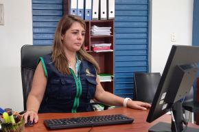 Karina Garay Tapia tiene a cargo el operativo Mercurio 2019, que erradicó la minería ilegal de La Pampa, ubicada en la zona de amortigüamiento de la Reserva Nacional de TambopataCortesía