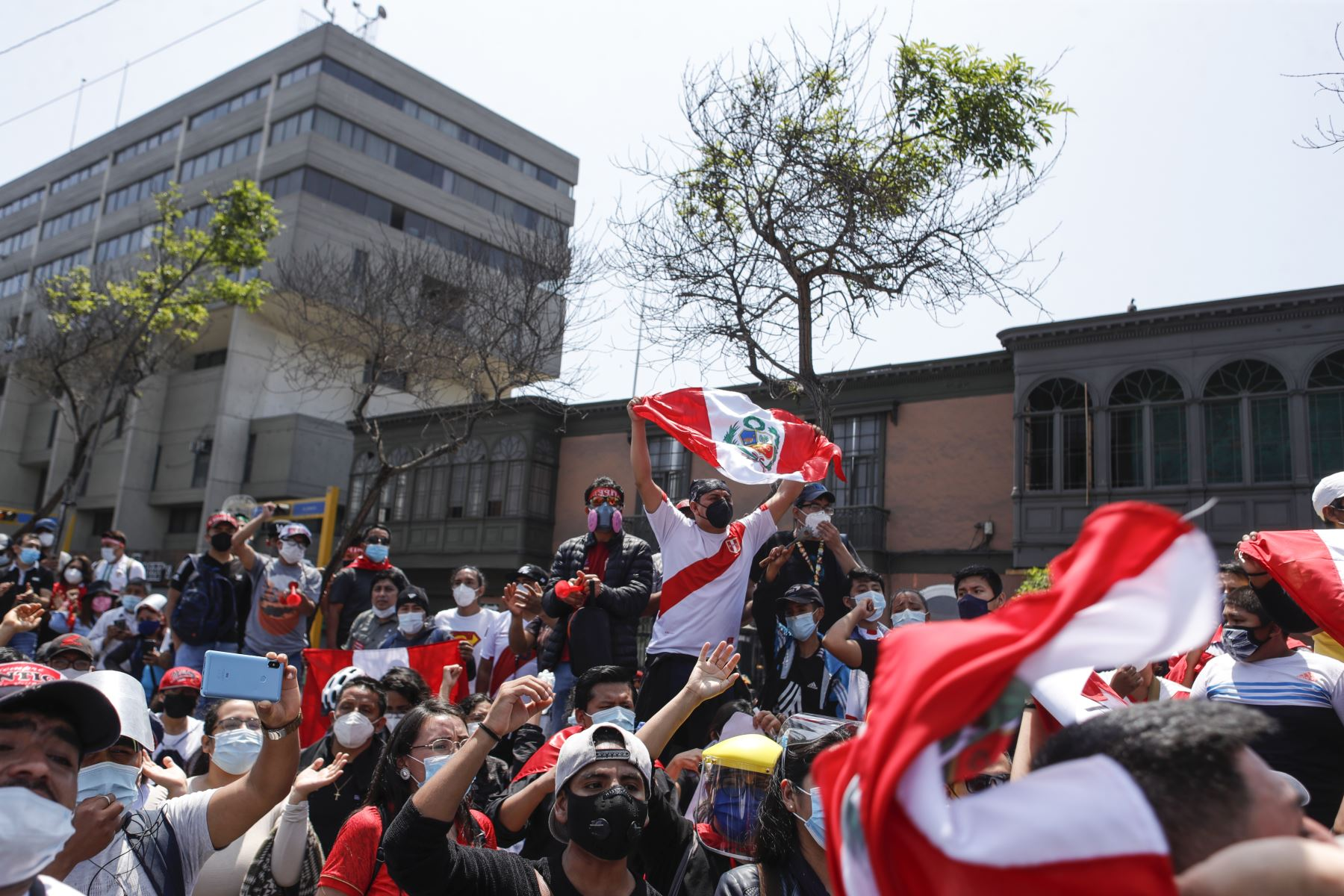Citizens participated in protests as political crisis deepened in Peru. Photo: ANDINA/Renato Pajuelo