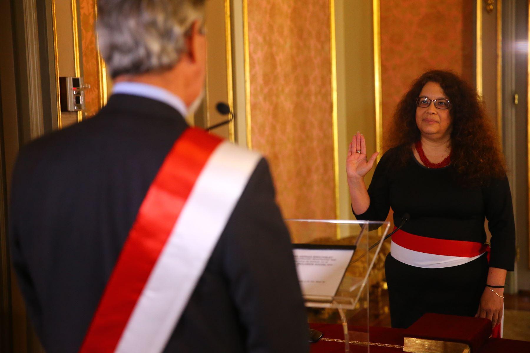 Silvana Vargas es la titular del Ministerio de Desarrollo e Inclusión Social (Midis). Foto: ANDINA/Prensa Presidencia