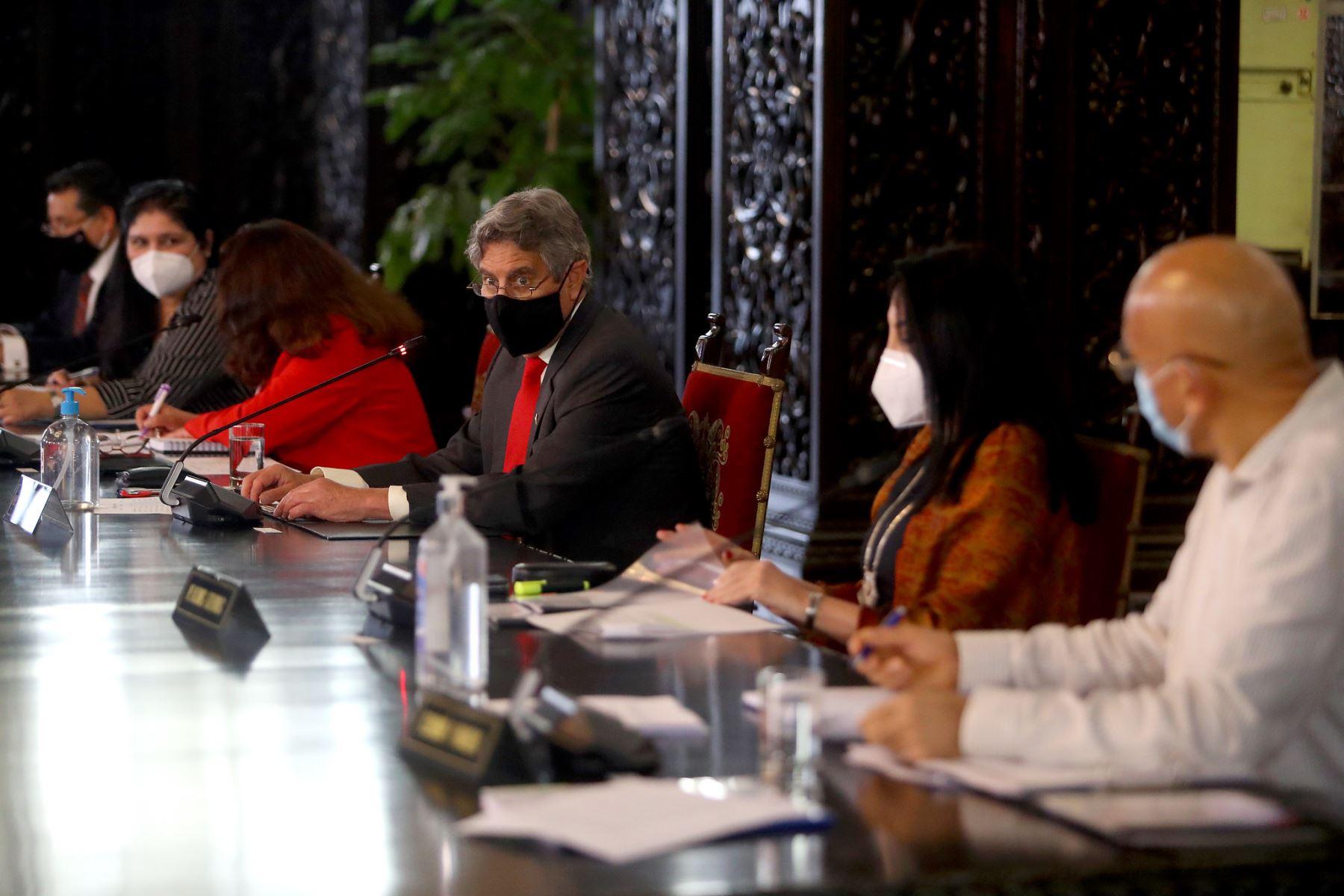 En Palacio de Gobierno, el presidente de la República, Francisco Sagasti, lidera primer Consejo de Ministros. Foto: ANDINA/Presidencia