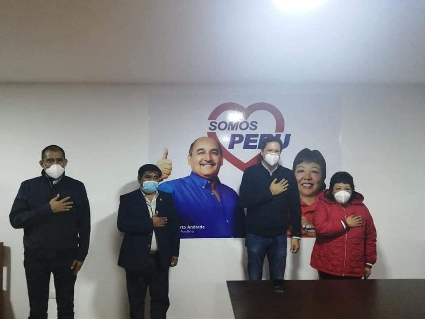 Daniel Salaverry, candidato de Somos Perú.