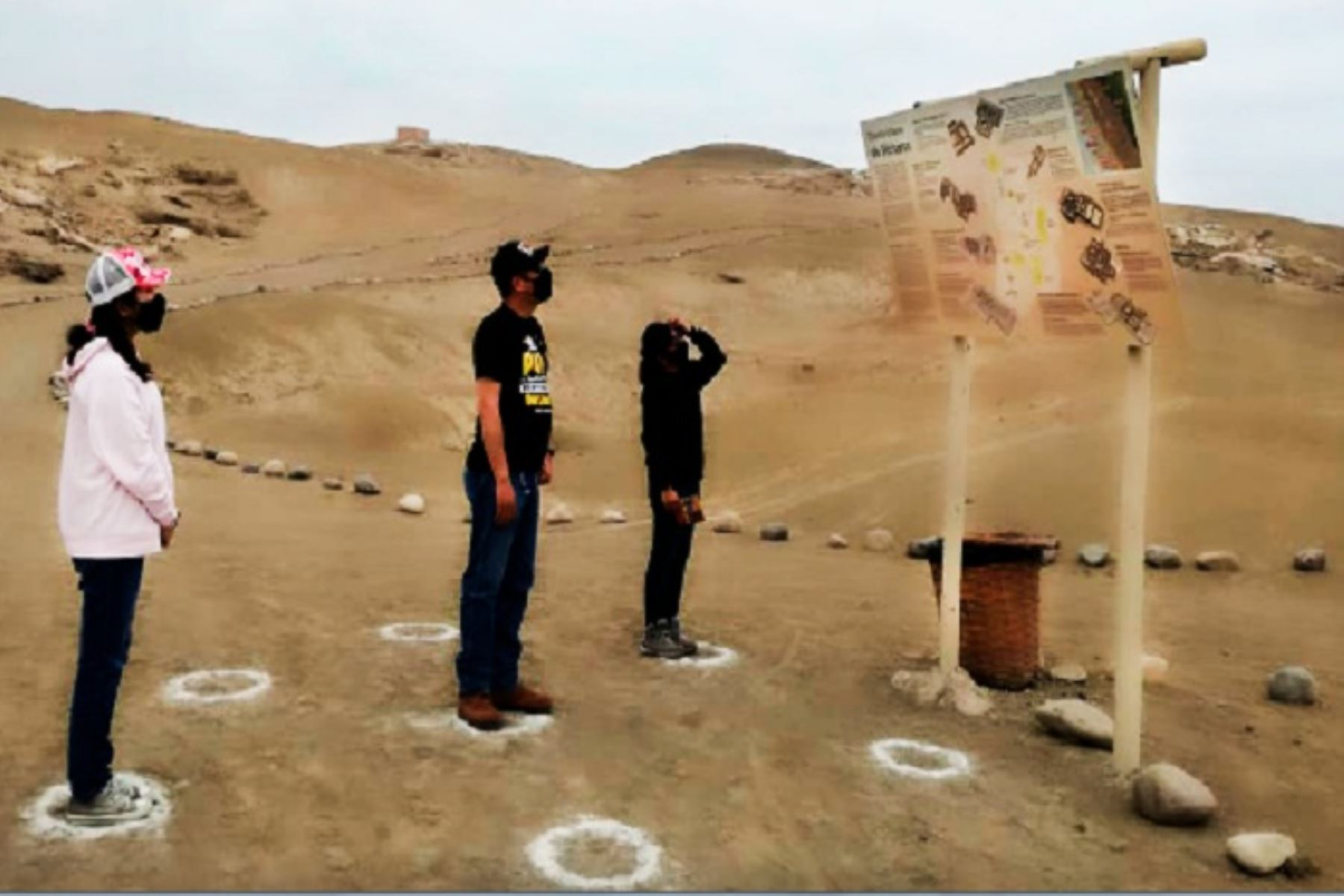 La Ciudad Sagrada de Caral, al norte de Lima, fue uno de los primeros sitios arqueológicos en reanudar su atención al público pospandemia de covid-19. ANDINA/Difusión