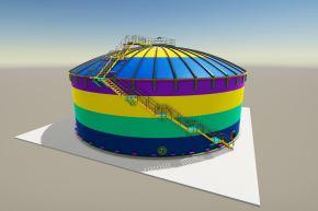 El diseño ganador cuenta con un diámetro exterior de 28 metros y con una altura de 13 metros.