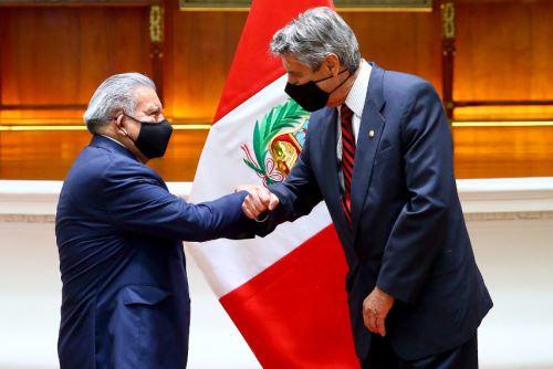Presidente Francisco Sagasti, se reúne con la bancada de Alianza para el Progreso (APP), en Palacio de Gobierno