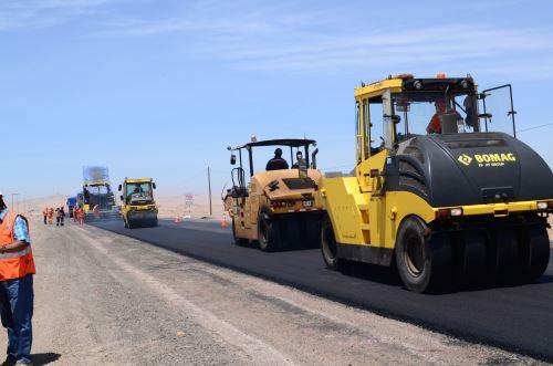 Construcción de infraestructura vial. ANDINA/Difusión