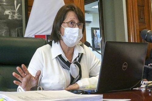 Ministra de Salud, Pilar Mazzetti, presentó resultados preliminares de un reciente estudio de seroprevalencia de covid-19.