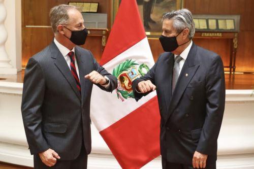 El Presidente de la República, Francisco Sagasti, se reúne con el alcalde de Lima, Jorge Muñoz