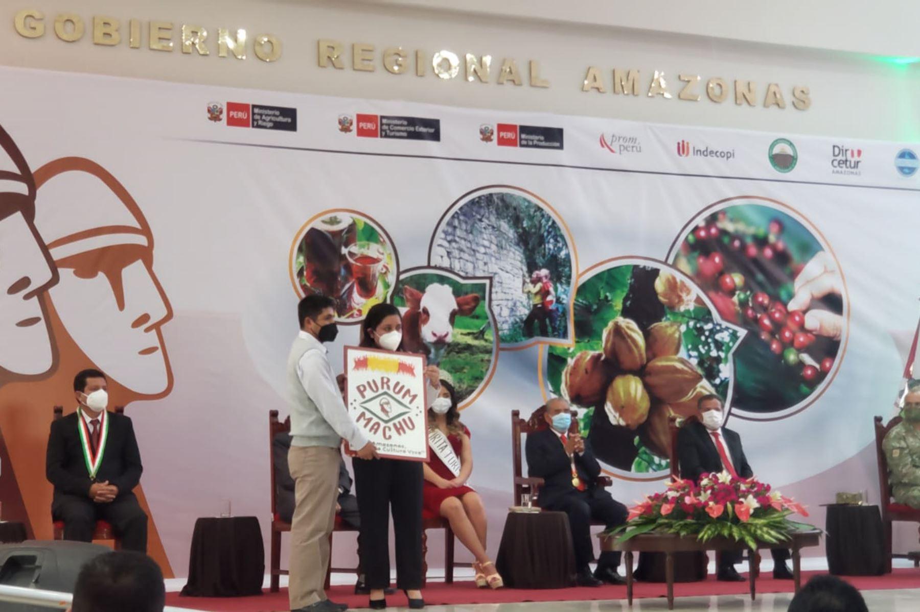 """El Indecopi otorgó marca de certificación denominada """"Purum Machu"""" al gobierno regional de Amazonas, que busca promocionar a la región e impulsar su reactivación económica. Foto: ANDINA/Difusión"""