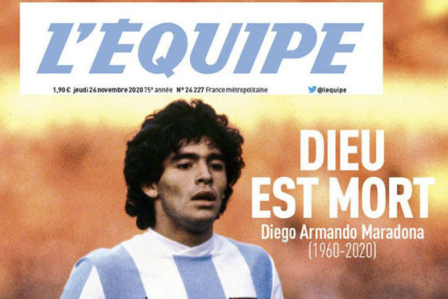 Así informa la prensa mundial la muerte de Diego Armando Maradona. L
