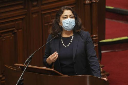 Presidenta del Consejo de Ministros, Violeta Bermúdez.