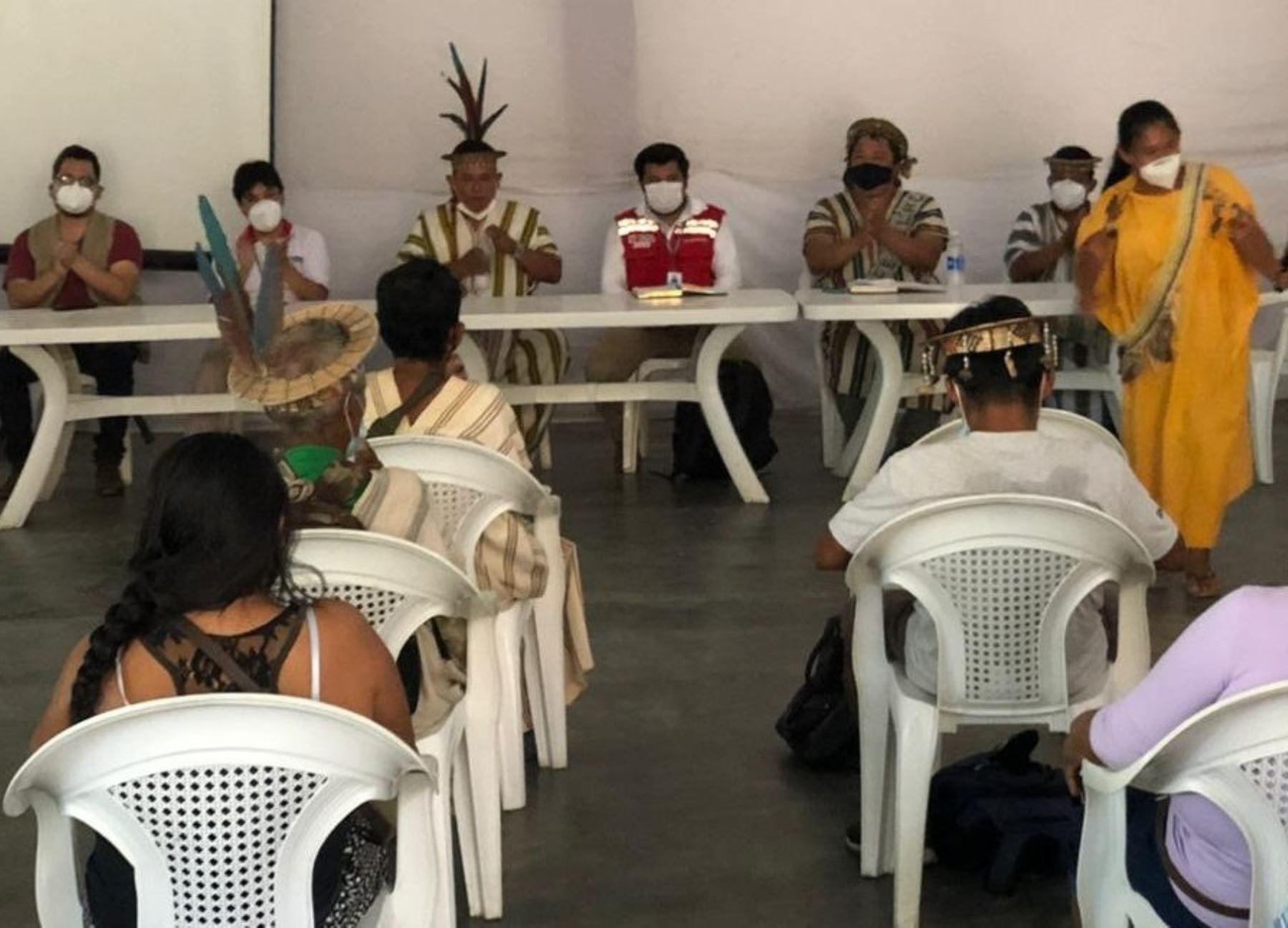 Ministerio de Cultura reforzará capacitación a más de 300 líderes indígenas de cinco regiones ante el coronavirus (covid-19). ANDINA/Difusión