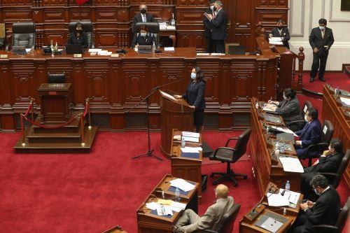 Premier Bermúdez junto al gabinete de ministros se presenta ante el pleno del Congreso para sustentar el presupuesto 2021