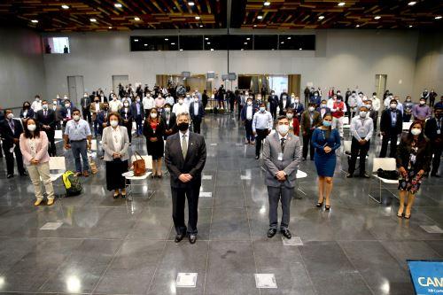 Presidente Sagasti clausura la XIII Conferencia Anual de Municipalidades Urbanas y Rurales, CAMUR 2020