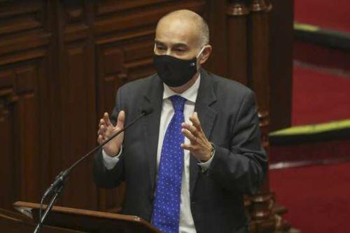 El ministro del Ambiente, Gabriel Quijandría, sustentó el presupuesto para su sector ante el pleno del Congreso. Foto: ANDINA/Difusión