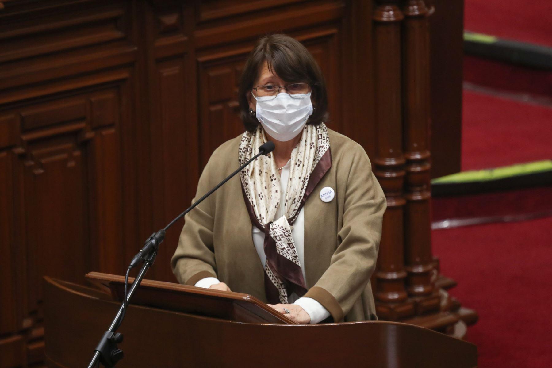 A Covax Facility se le pagará S/ 385.75 millones por vacunas para 6.6 millones de personas, informó la ministra de Salud, Pilar Mazzetti. ANDINA/Minsa
