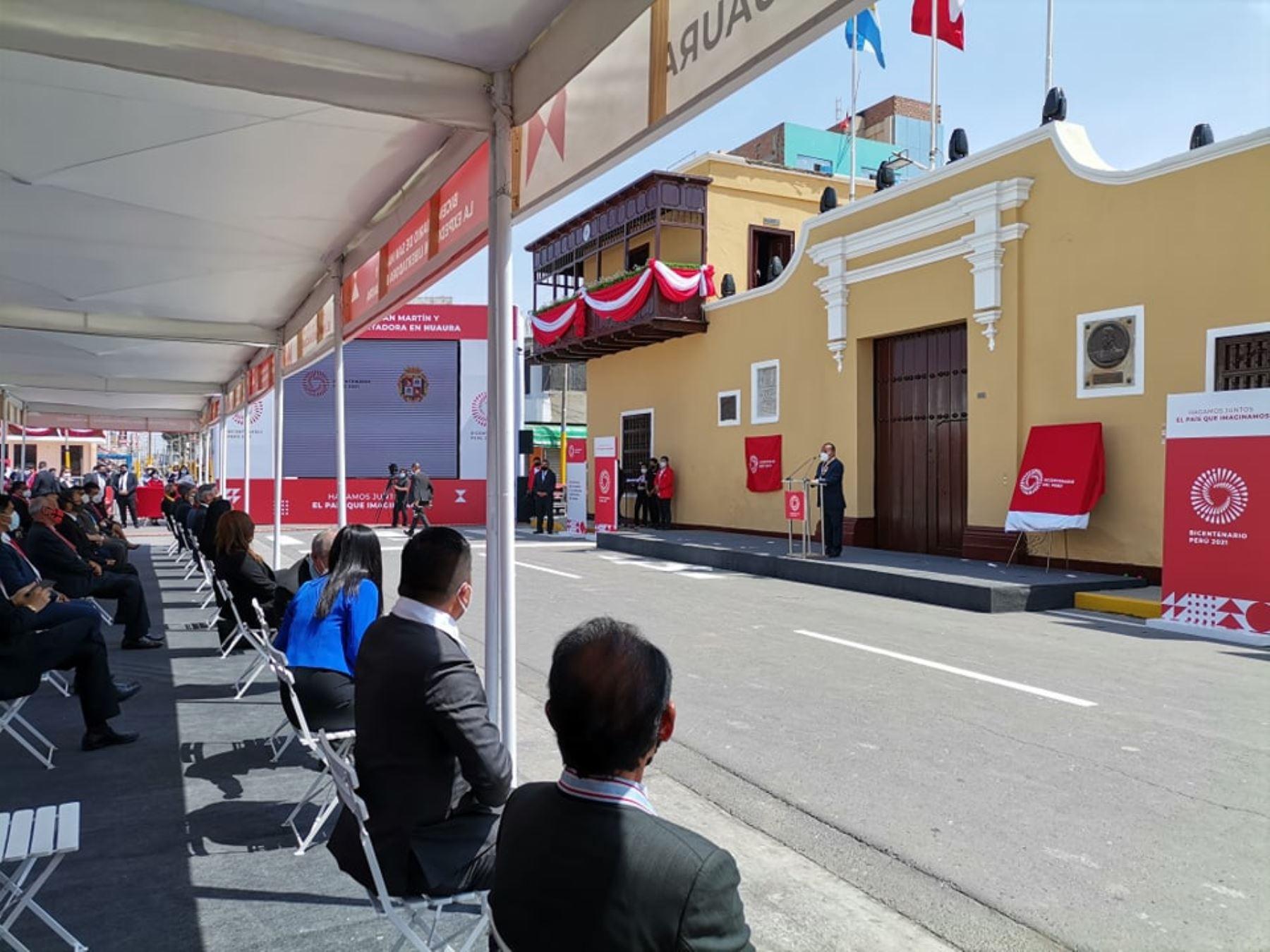 Con una ceremonia especial Huaura celebra hoy los 200 años de la proclamación de la Independencia por el libertador general José de San Martín.