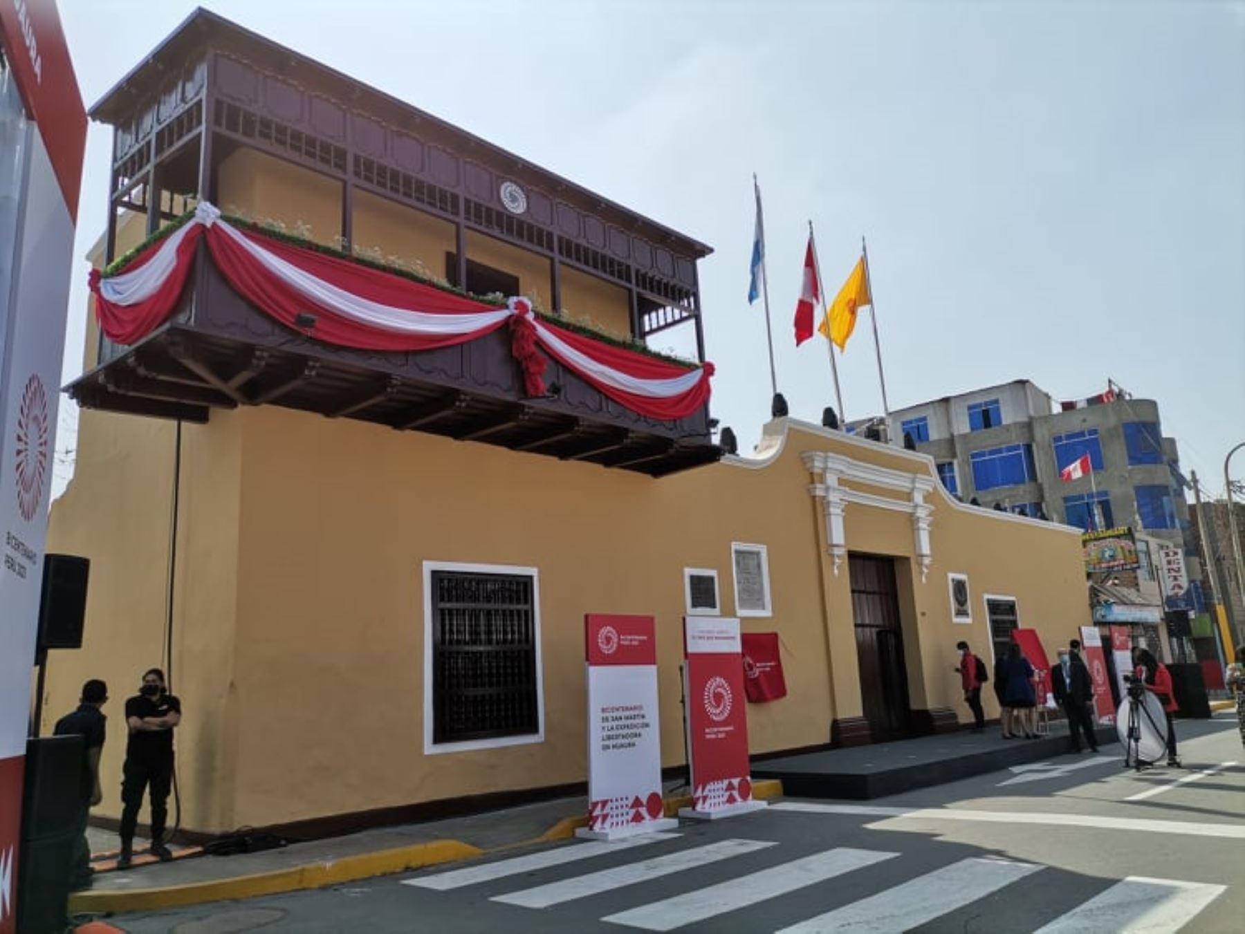 El histórico Balcón de Huaura, desde donde el general José de San Martín proclamó la Independencia del Perú hace 200 años, es el punto de partida para conocer la Ruta del Libertador, un circuito turístico que ofrece la Región Lima. Foto: Elio Murillo