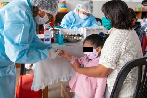 Los servicios de Cuna Más no se detuvieron en Ayacucho pese a la pandemia de covid-19. Foto: ANDINA/Difusión