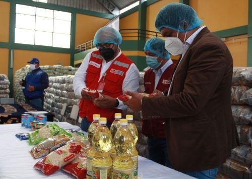 Programa Qali Warma entrega 450 toneladas de alimentos a municipio de José Leonardo Ortiz, en Lambayeque, para su distribución a las familias vulnerables. ANDINA/Difusión