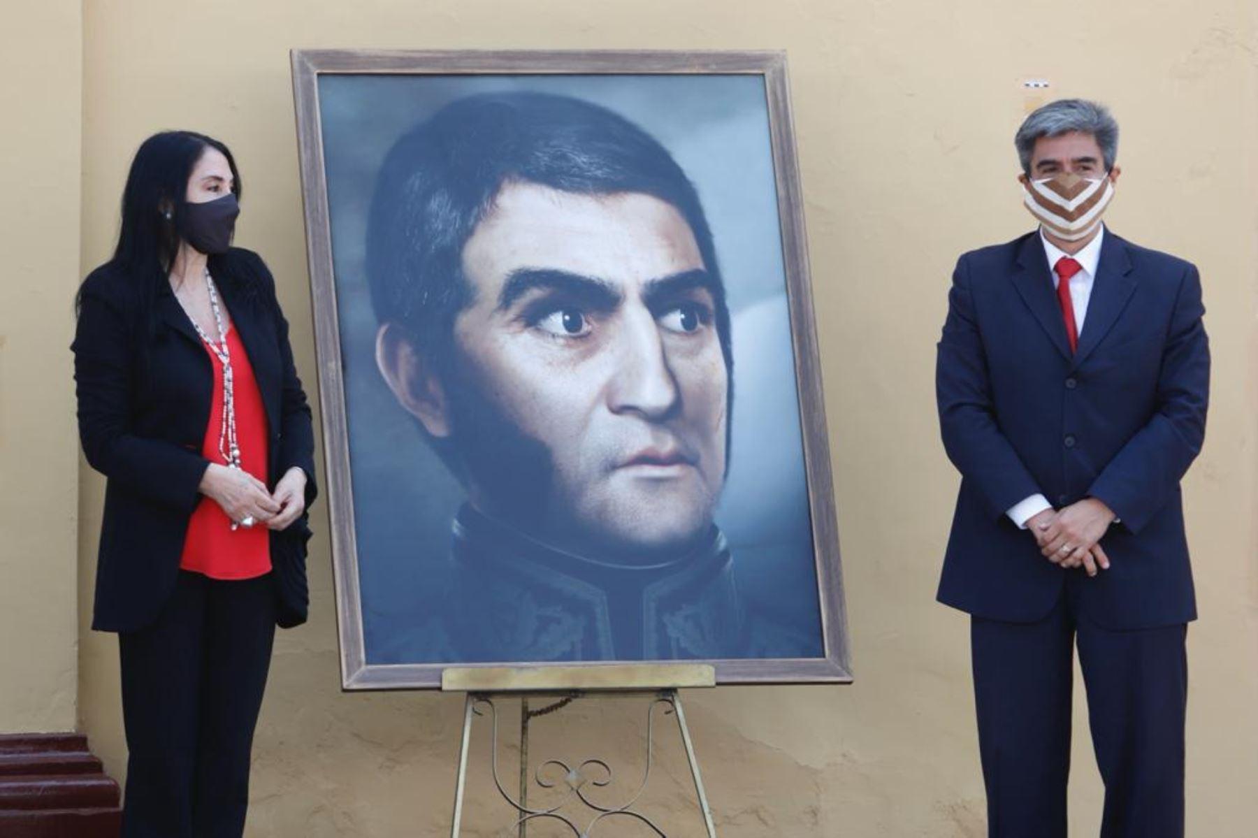 Conoce la historia del retrato del general Don José de San Martín develado ayer durante la ceremonia por los 200 años de la proclamación de la Independencia del Perú en Huaura. ANDINA/Difusión