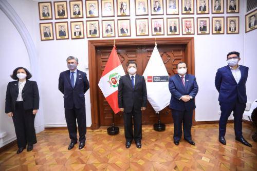 Ministro de Justicia, Eduardo Vega Luna, sostuvo hoy una reunión de trabajo con la delegación de la Comisión Interamericana de Derechos Humanos