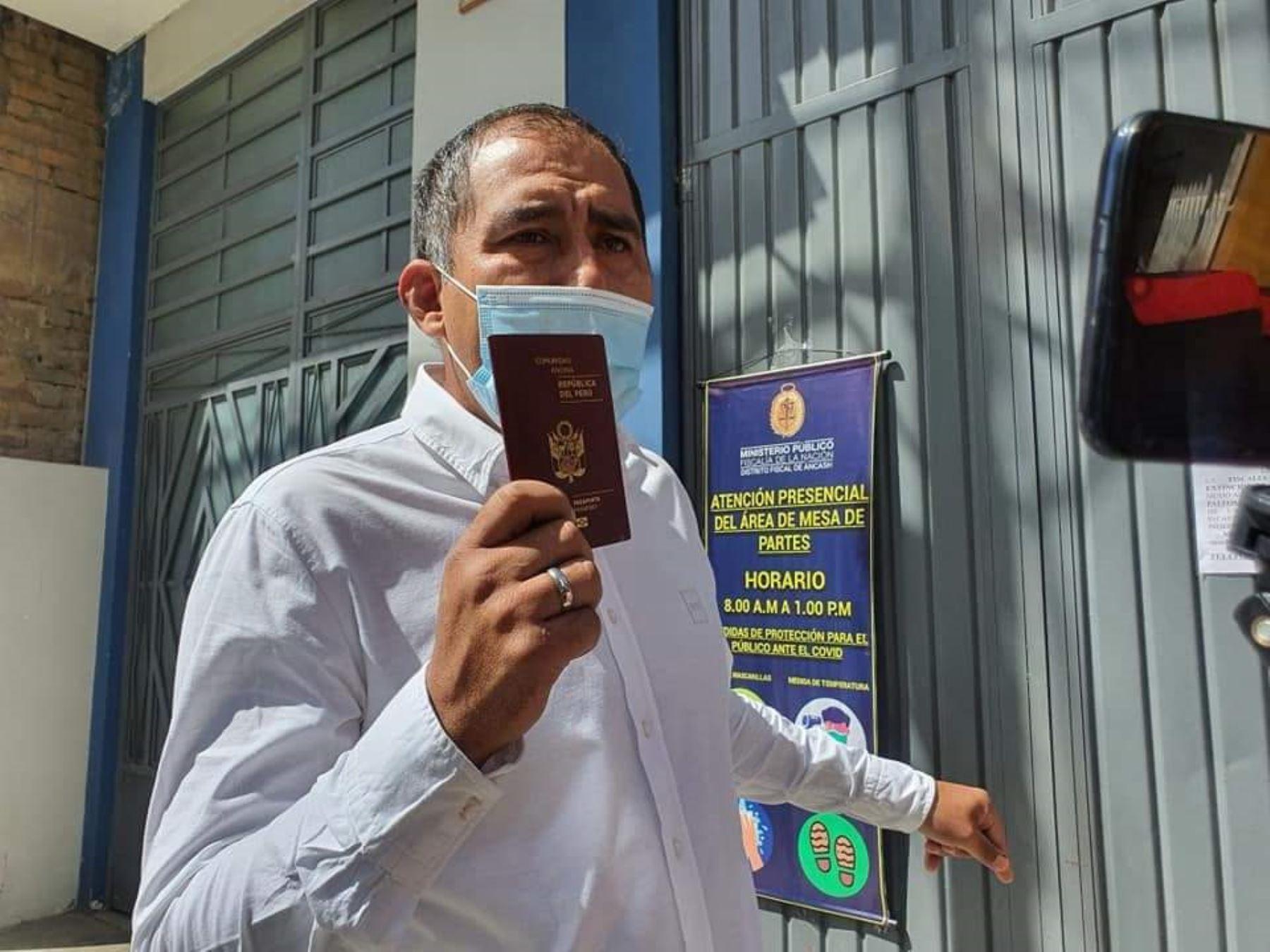 Suspendido gobernador de Áncash, Juan Carlos Morrillo. ANDINA/Difusión