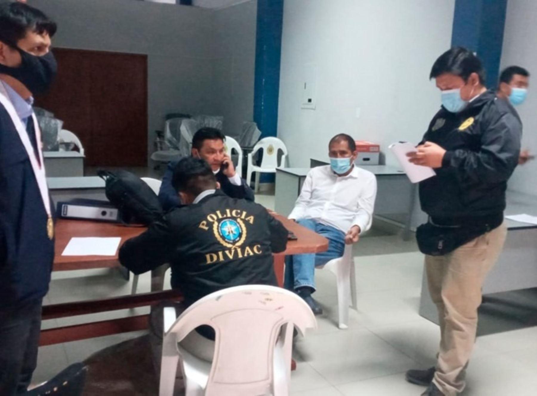 Por orden del Poder Judicial esta mañana fue detenido el gobernador regional de Áncash, Juan Carlos Morillo, implicado en caso de corrupción. ANDINA/Difusión