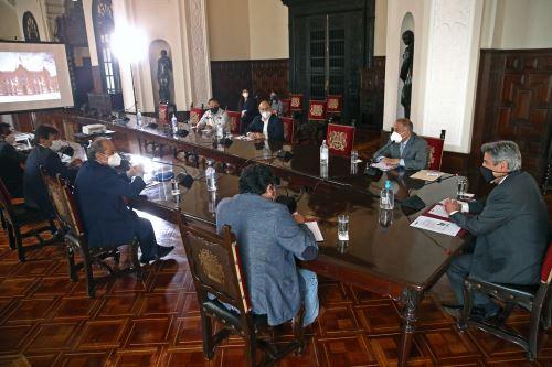 Presidente de la República Francisco Sagasti sostuvo una reunión con representantes de centrales sindicales