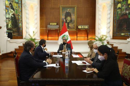 Presidente Francisco Sagasti se reúne con la presidenta de IPAE y con representantes de la Asociación Empresarios por la Integridad