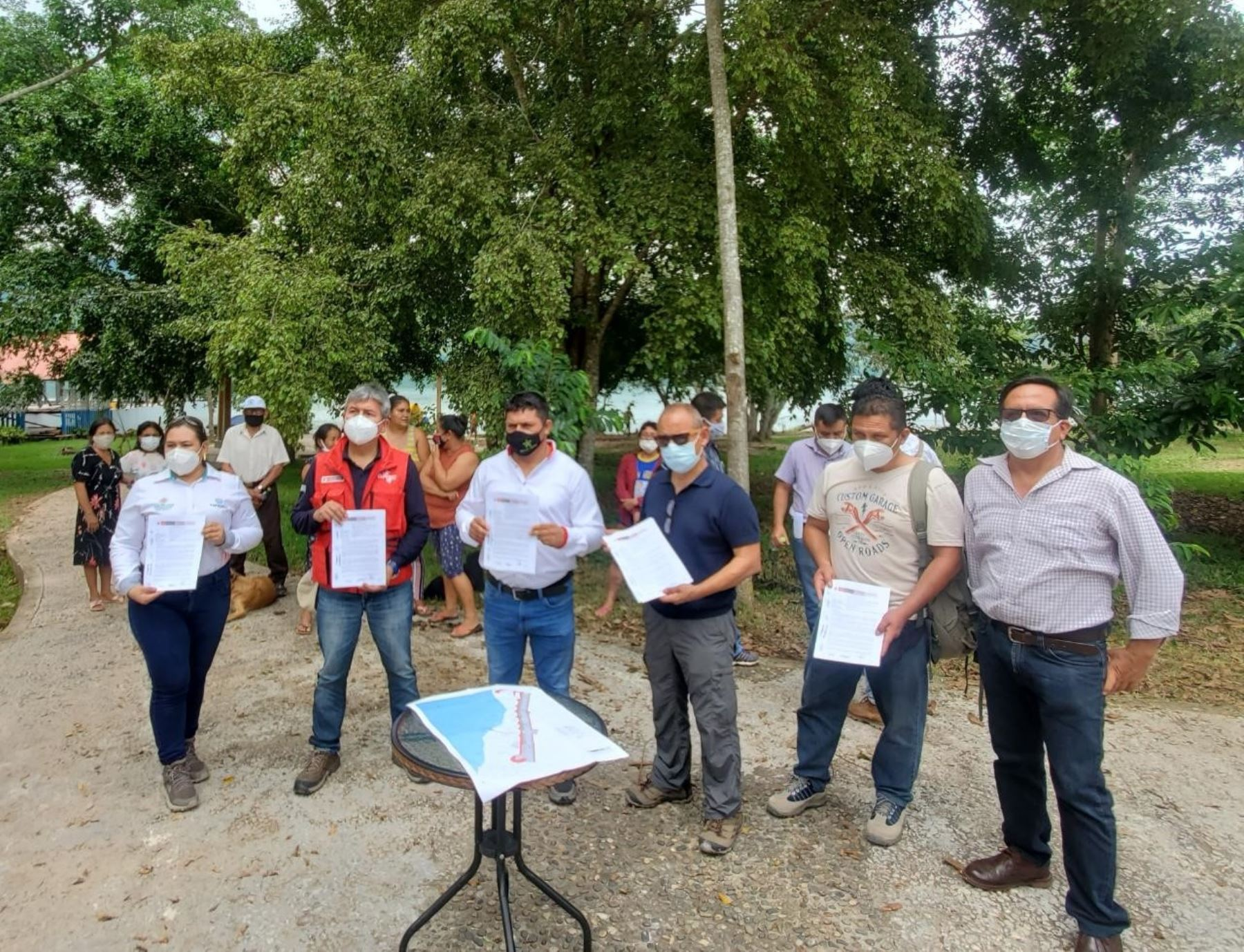 Plan Copesco entregó terreno para el reinicio de la obra de infraestructura turística en el distrito de Sauce, ubicado en la provincia y región San Martín. ANDINA/Difusión