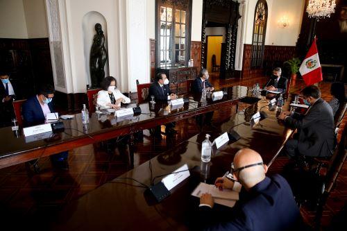 Presidente Francisco Sagasti se reunió con delegación oficial de la Comisión Interamericana de DD.HH