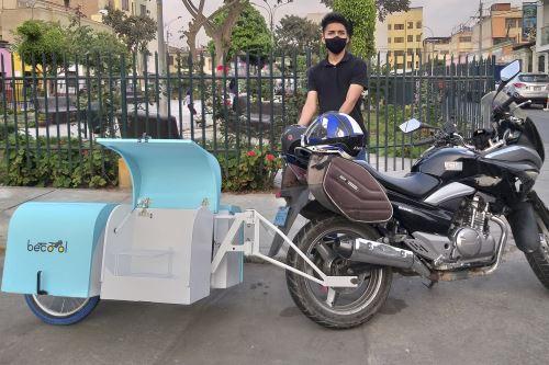 Estudiantes de la UPN diseñan innovador remolque con sistema de desinfección para motocicletas