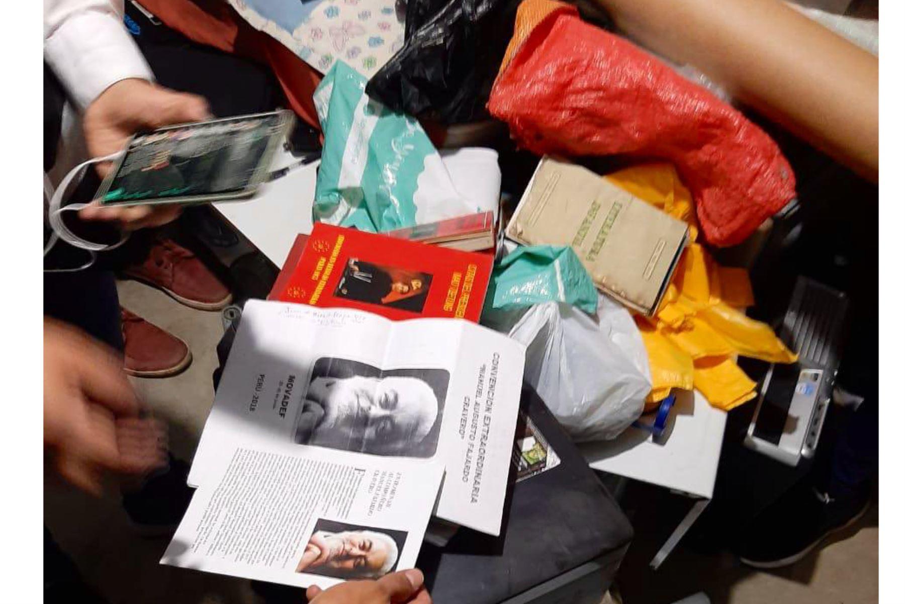Megaoperativo de la Policía Nacional y la Fiscalía capturaron esta madrugada a 67 integrantes de Sendero Luminoso en Lima. Entre los detenidos figuran miembros de Movadef y otros organismos generados de la organización terrorista. Foto: ANDINA/Mininter